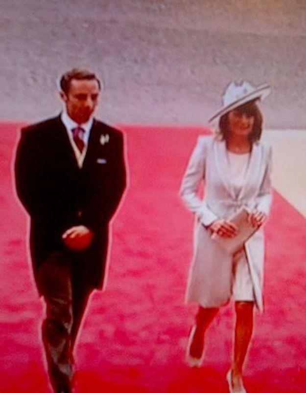 Mariage princier : la mère de Kate est en blanc !