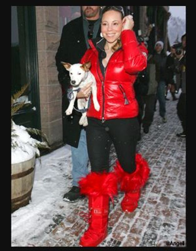 Mariah Carey et ses Moon Boots signées Dior
