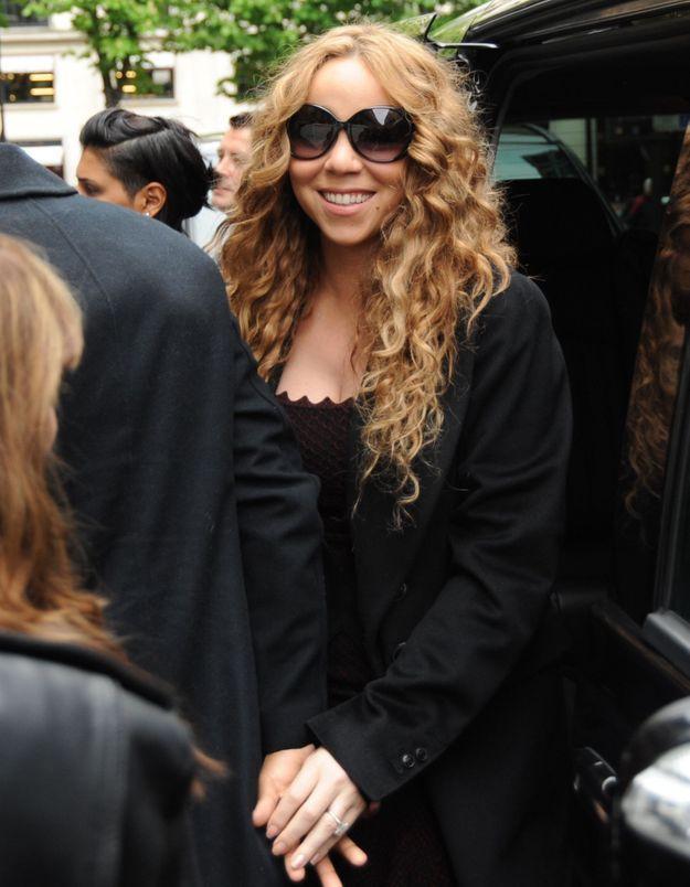 Mariah Carey renouvelle ses voeux à Paris