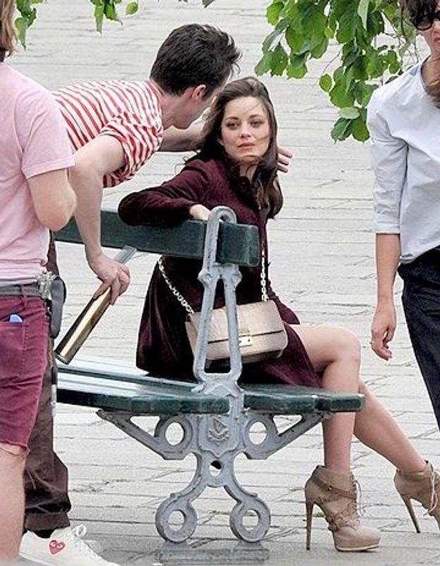 Marion Cotillard en shooting pour Dior à Paris