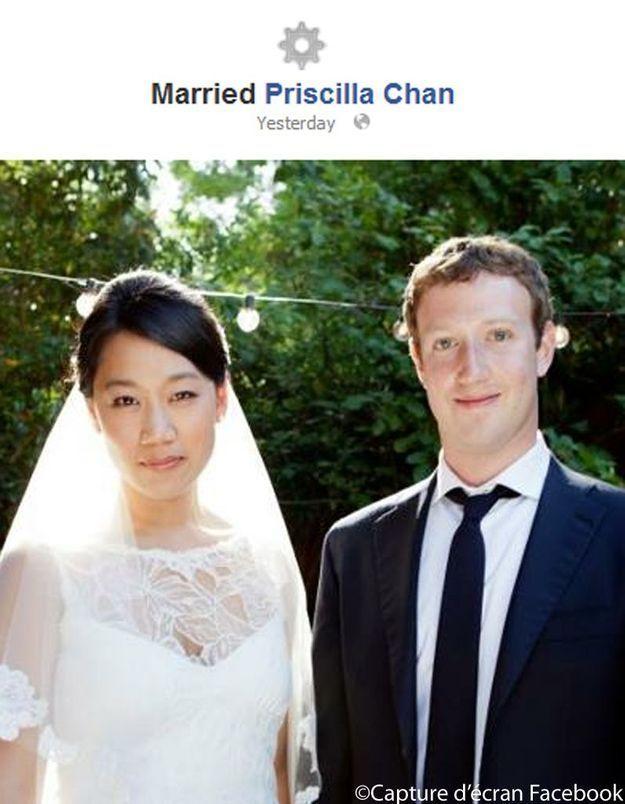 Mark Zuckerberg devient «marié» sur Facebook