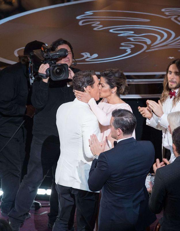 Leur baiser aux Oscars 2014
