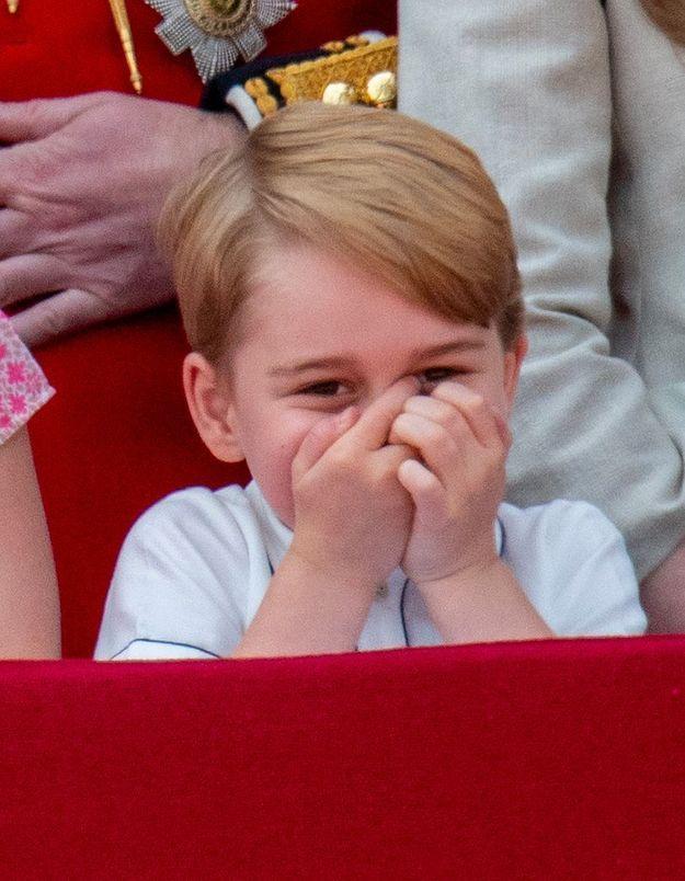 Le prince George à la parade Trooping the colour