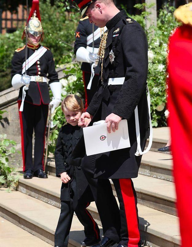 Le prince George dans son uniforme de Page Boy