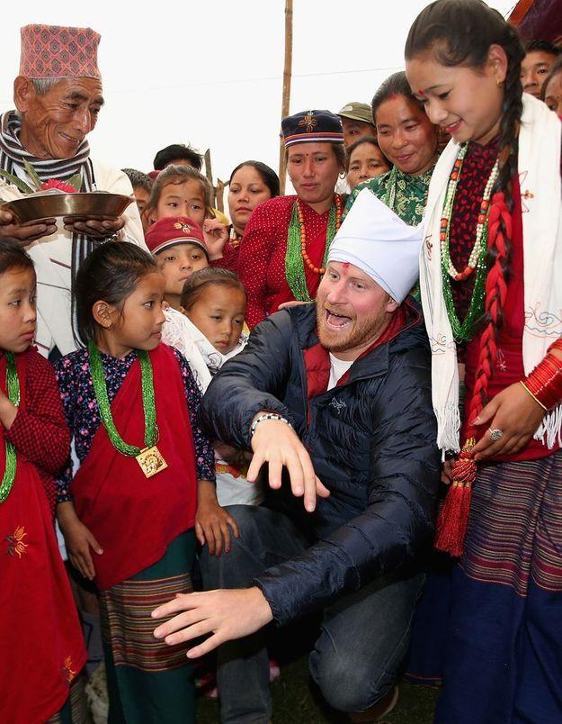 Le prince Harry au Népal