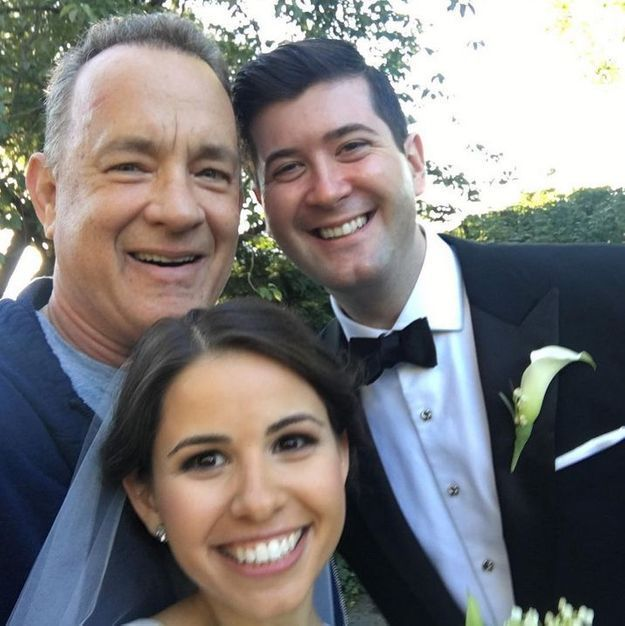 Quand Tom Hanks s'incruste sur des photos de mariage.