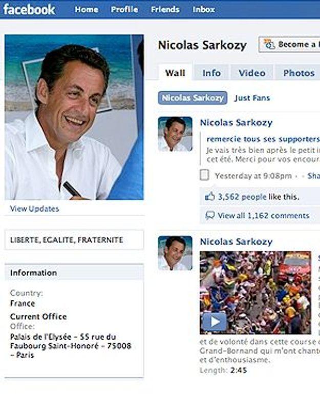 Nicolas Sarkozy rassure ses « friends » sur Facebook.