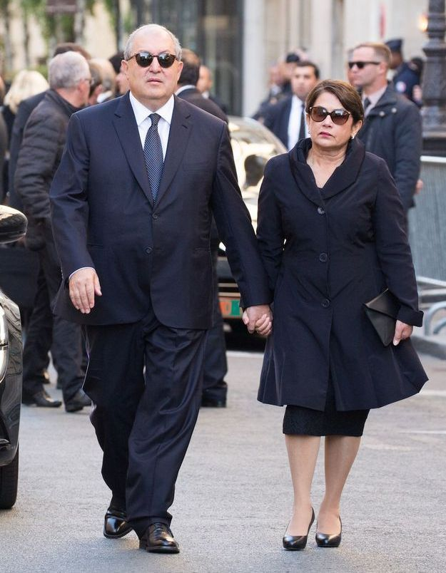 Le président arménien aux obsèques de Charles Aznavour