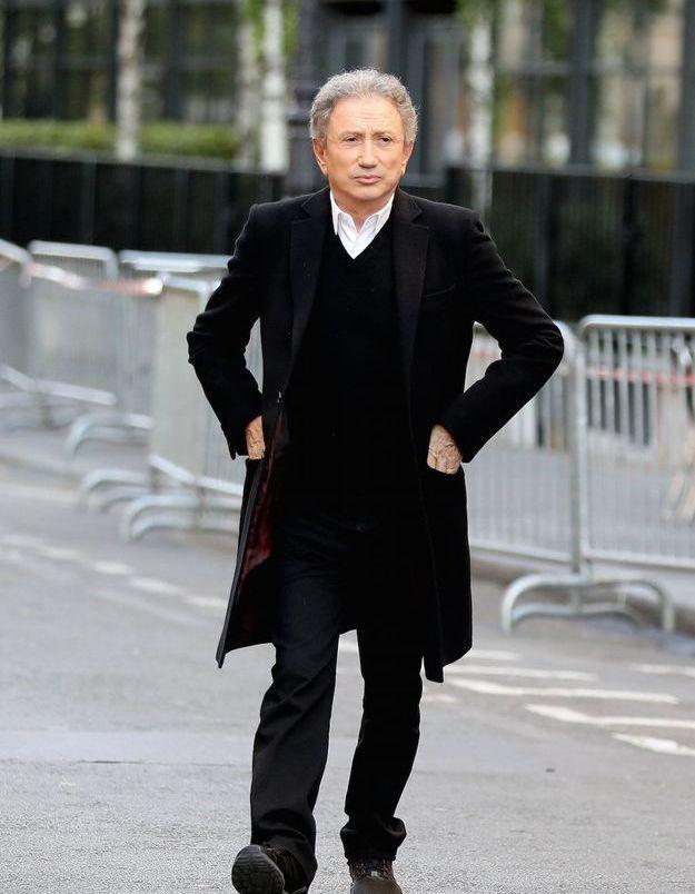 Michel Drucker aux obsèques de Charles Aznavour