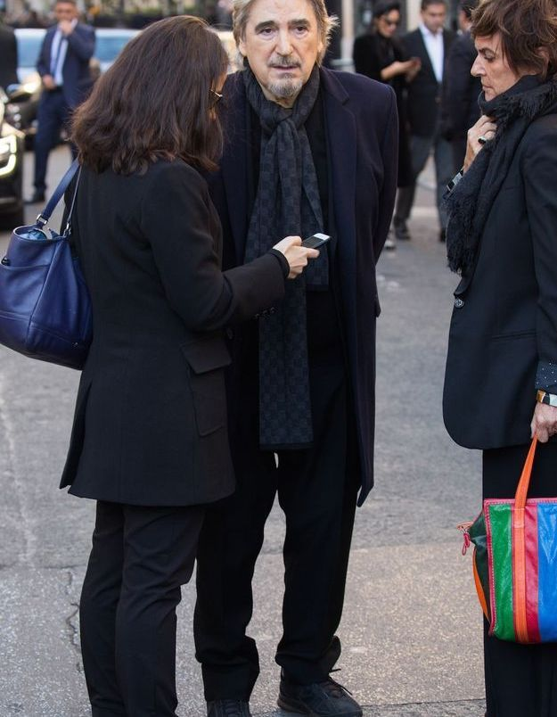 Serge Lama aux obsèques de Charles Aznavour