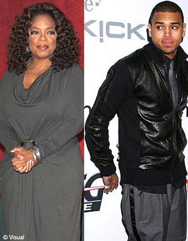 Oprah Winfrey remet Chris Brown à sa place