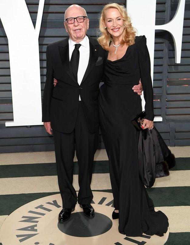 Rupert Murdoch et Jerry Hall