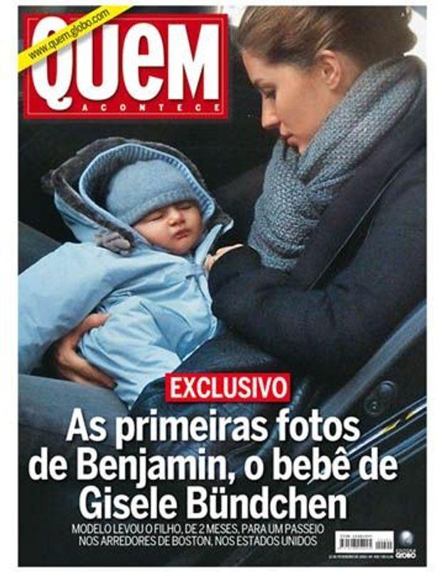 Photo : Gisèle Bundchen présente son fils