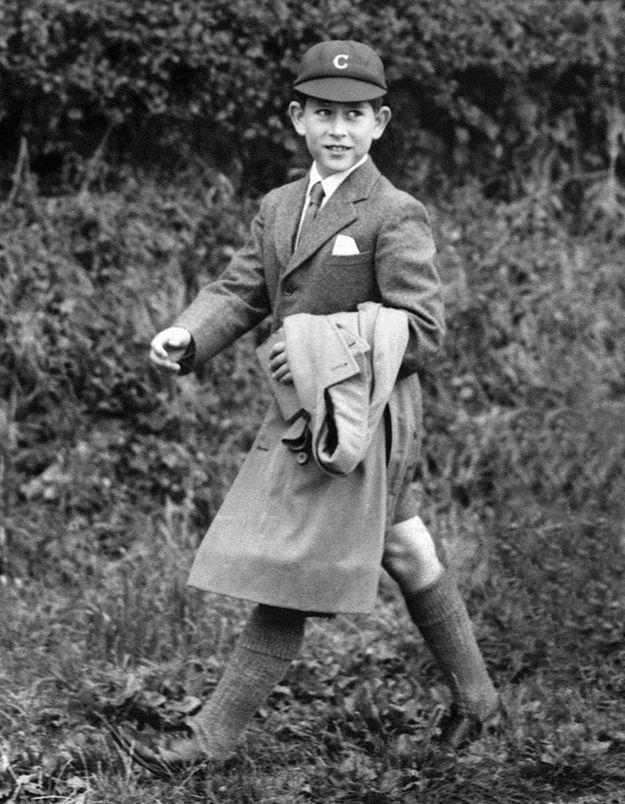Le prince Charles à l'école