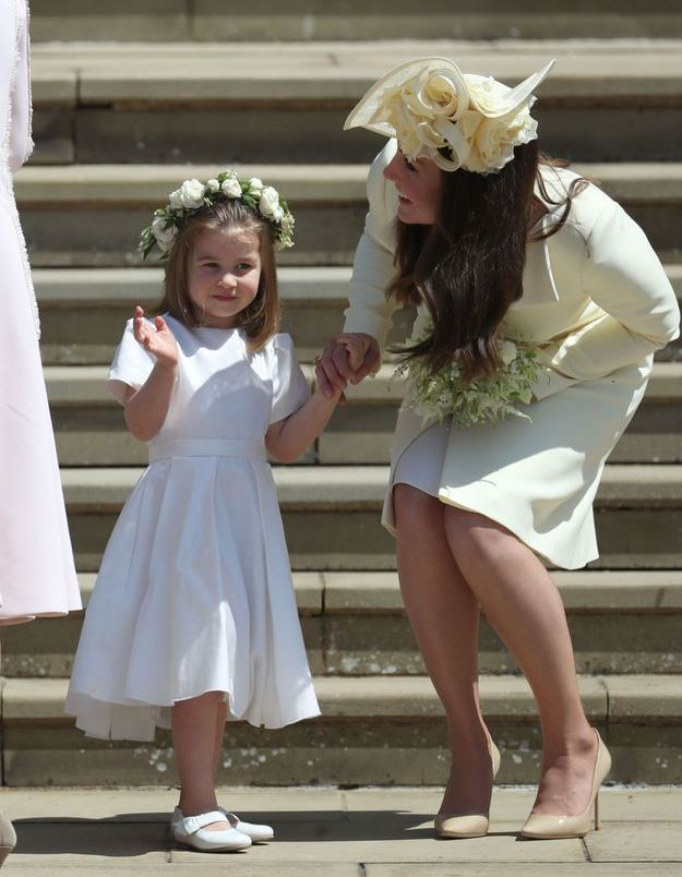 la princesse Charlotte et sa mère, Kate Middleton
