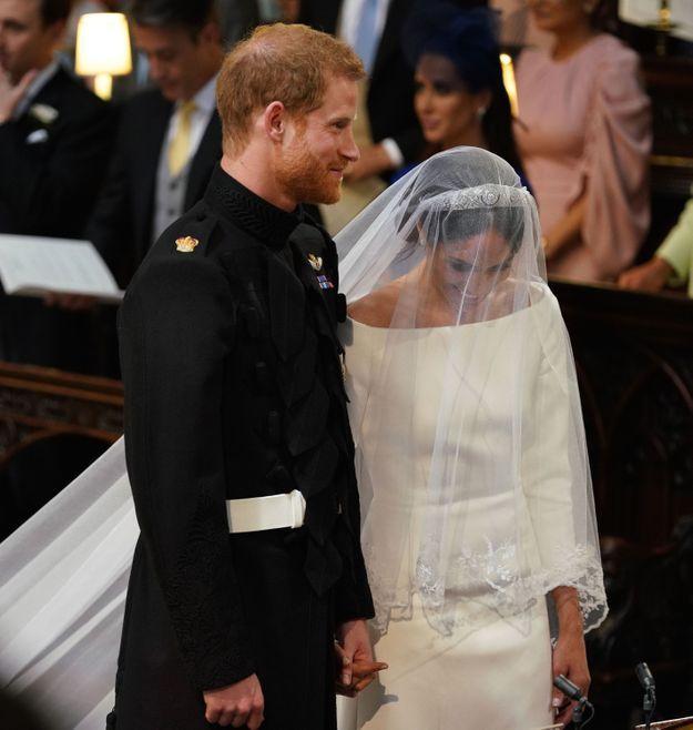 Les mariés n'ont pas arrêté de sourire