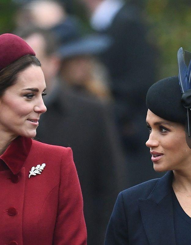 Qui de Meghan Markle ou de Kate Middleton a fait pleurer l'autre ? La reine a son avis sur la question !
