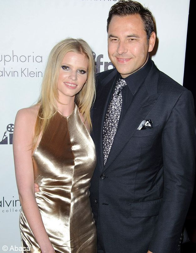 Lara Stone et David Walliams