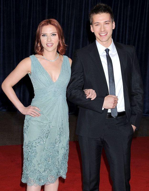 Hunter et Scarlett Johansson