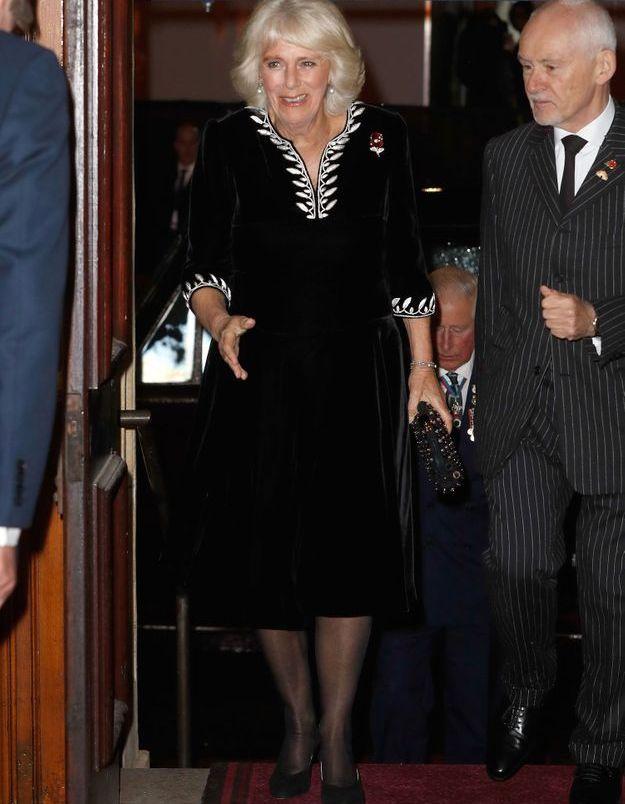 Camilla Parker Bowles arrive au Royal Albert Hall
