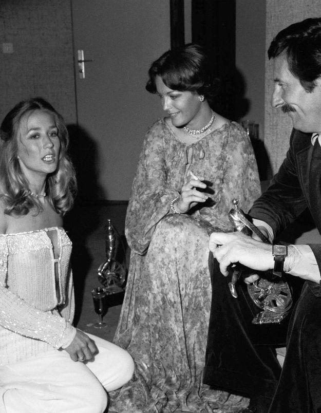 Brigitte Fossey, Romy Schneider et Jean Rochefort