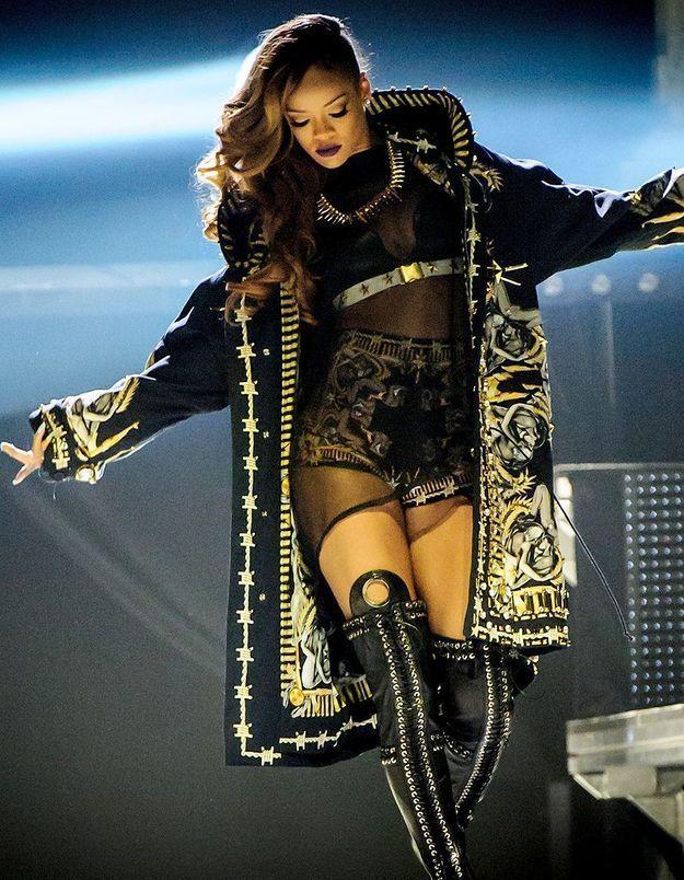 Rihanna : la police retrouve de la drogue dans les bus de sa tournée