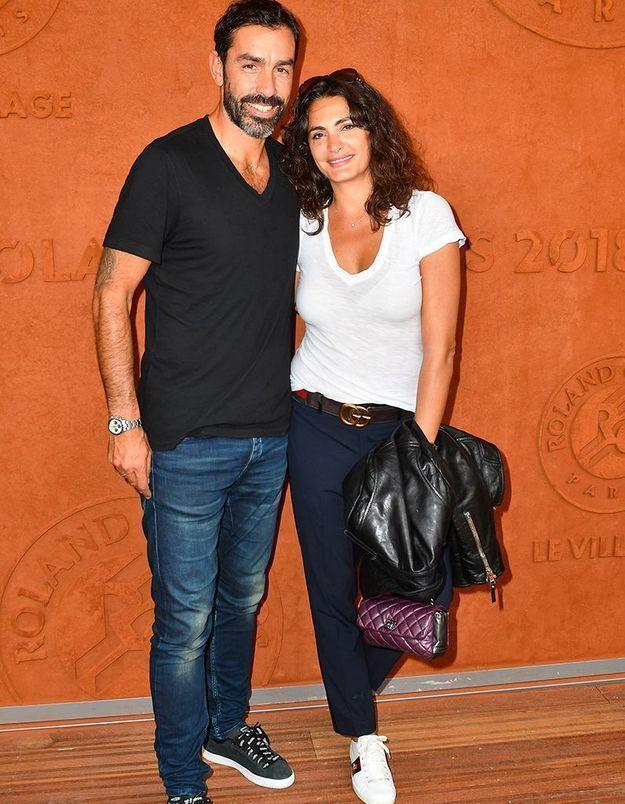 Robert Pirès et sa femme Jessica Lemarié