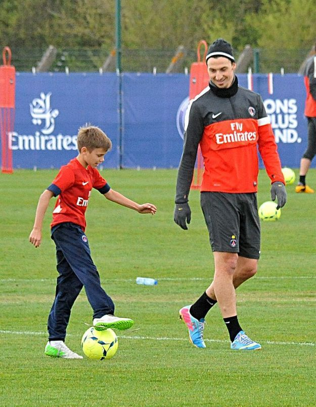Avec Zlatan