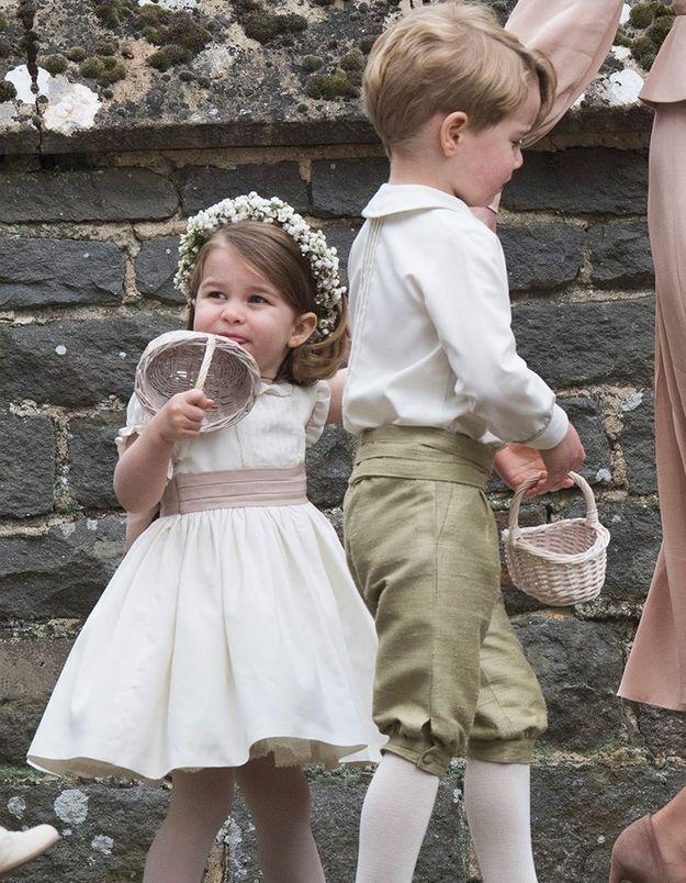 George et Charlotte seront enfants d'honneur.