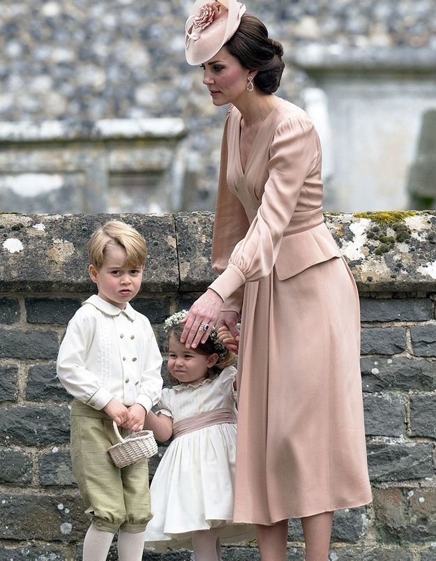 Kate Middleton et ses enfants au mariage de Pippa