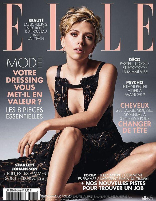 Scarlett Johansson en couverture de ELLE cette semaine !