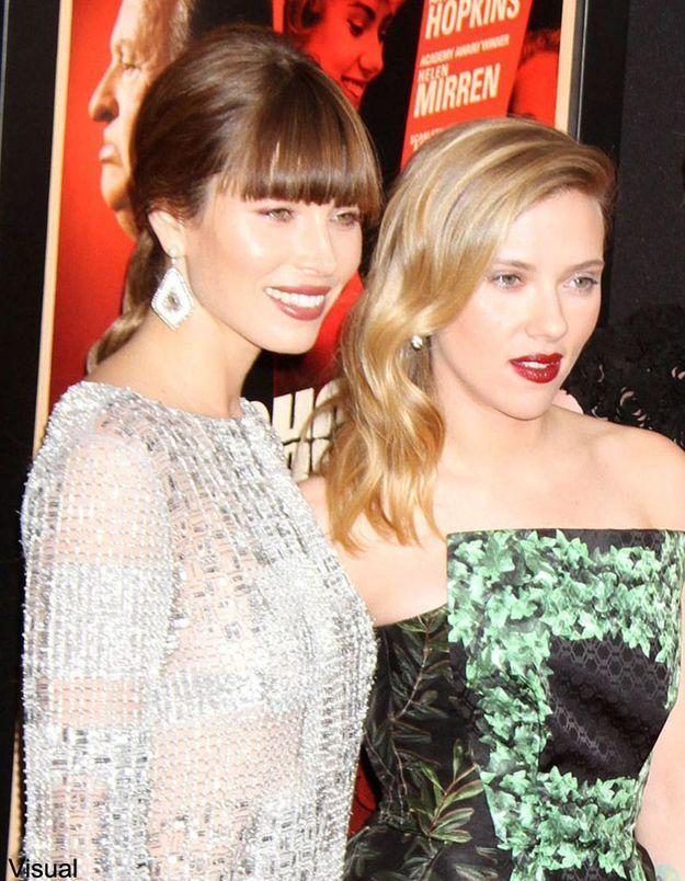 Scarlett Johansson et Jessica Biel : de la tension dans l'air ?