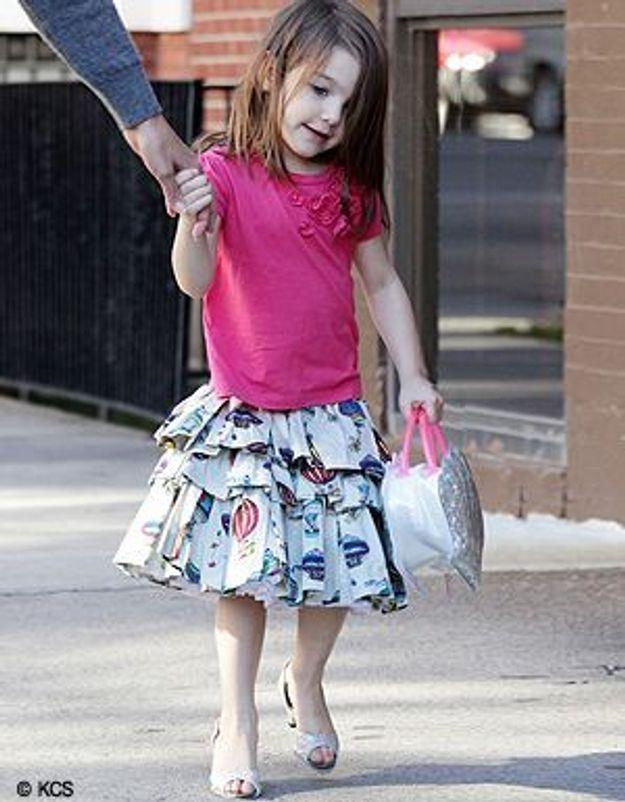 Suri Cruise : elle porte déjà des talons !