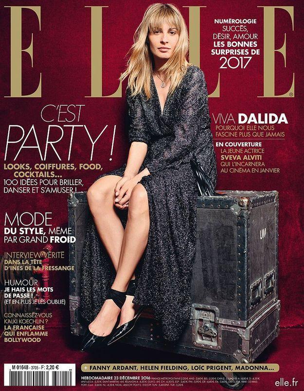Sveva Alviti, l'interprète de Dalida, est en couverture de ELLE cette semaine!