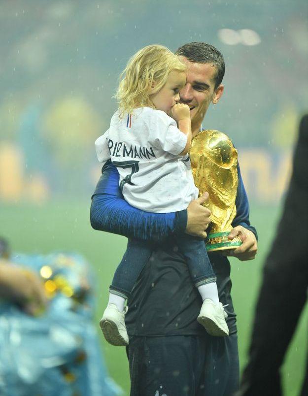 Antoine Griezmann et sa fille, Mia
