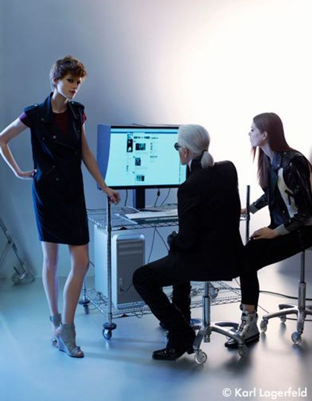 Karl Lagerfeld maîtrise totalement le high-tech