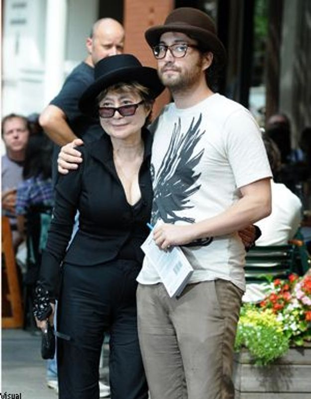 Yoko Ono et Sean Lennon : déjeuner en famille à New York