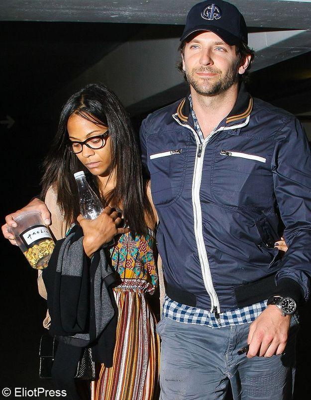 Zoe Saldana, de nouveau dans les bras de Bradley Cooper