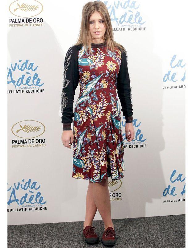 Le look du jour : Adèle Exarchopoulos, à Madrid pour « La Vie d'Adèle »