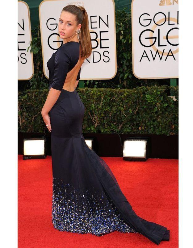 Le look du jour : Adèle Exarchopoulos en Miu Miu aux Golden Globes