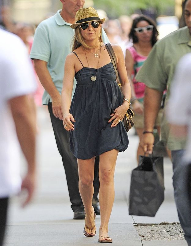 Le look du jour : Jennifer Aniston, superbe California girl