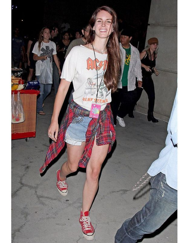 La chemise à carreaux de Lana Del Rey