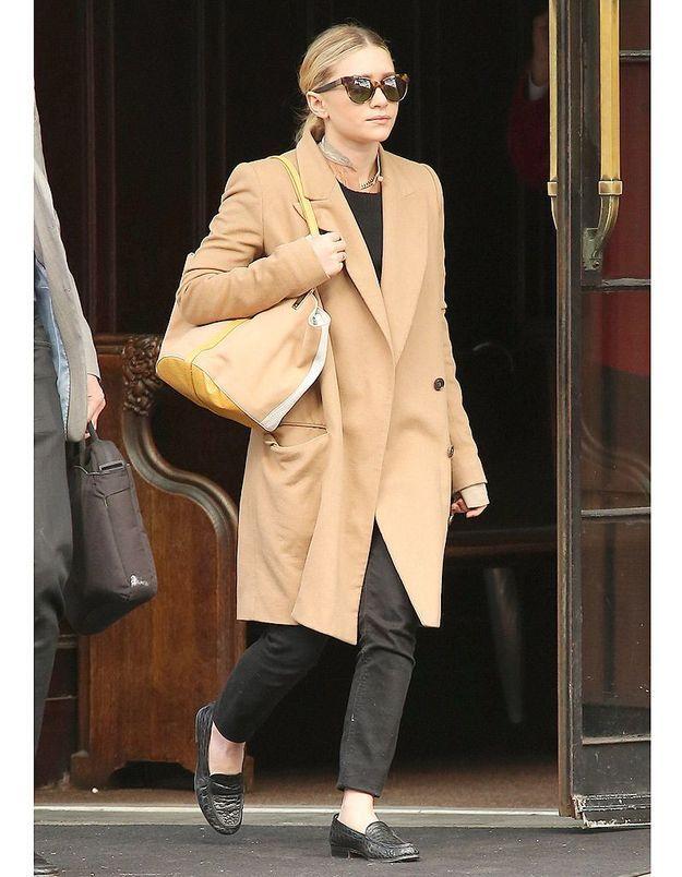 Le manteau oversize d'Ashley Olsen