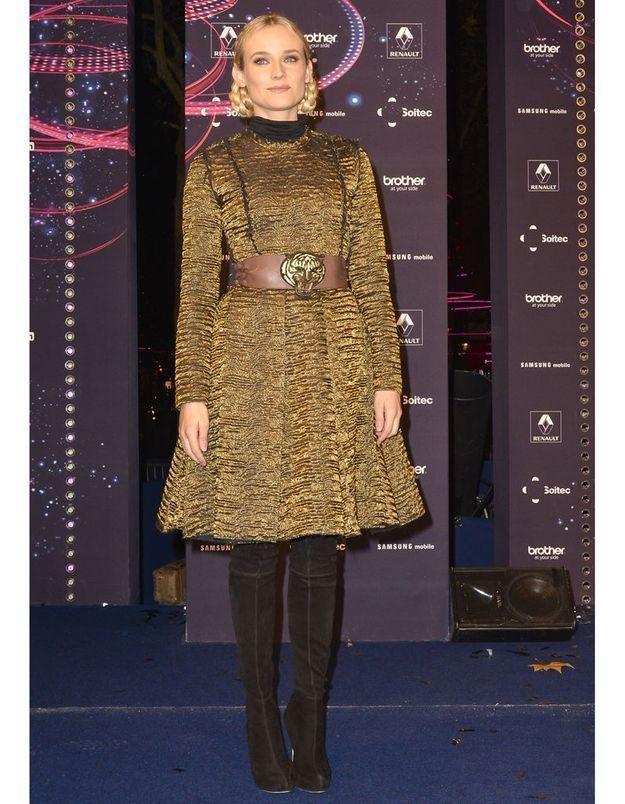 Diane Kruger en manteau Lanvin