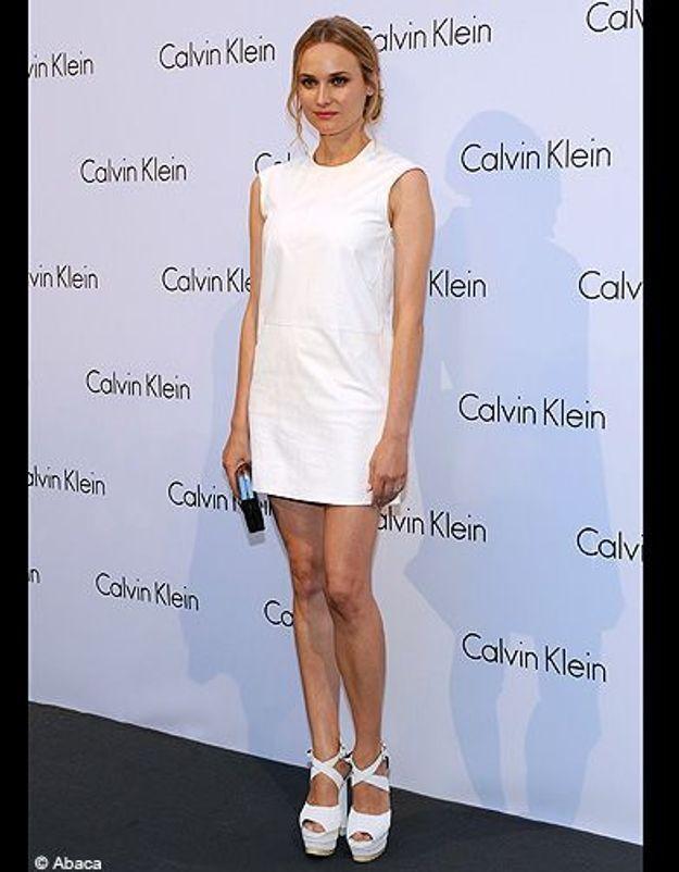 Diane Kruger en robe blanche