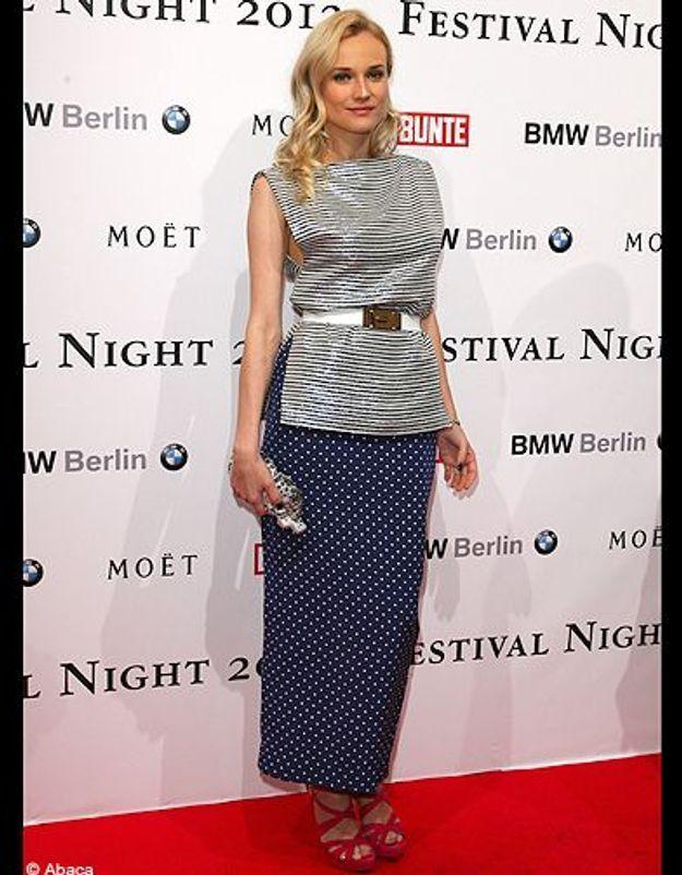 Diane Kruger en robe imprimée