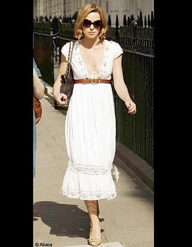 Sexy en robe blanche