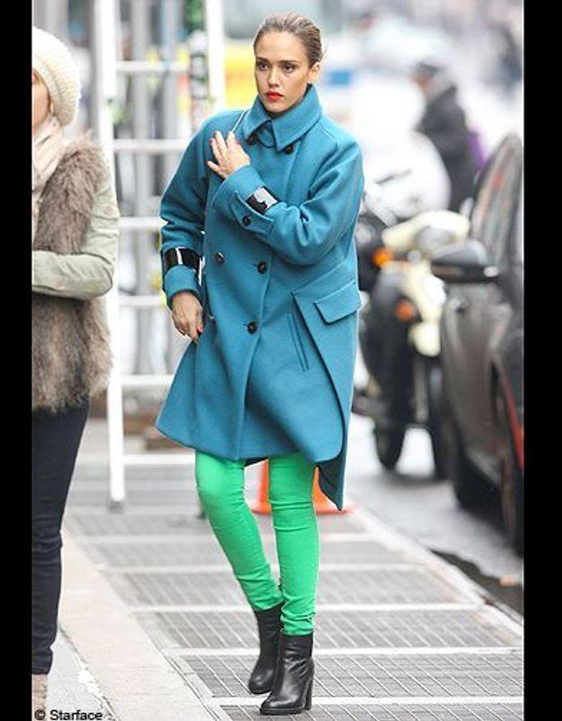 Jessica Alba en vert