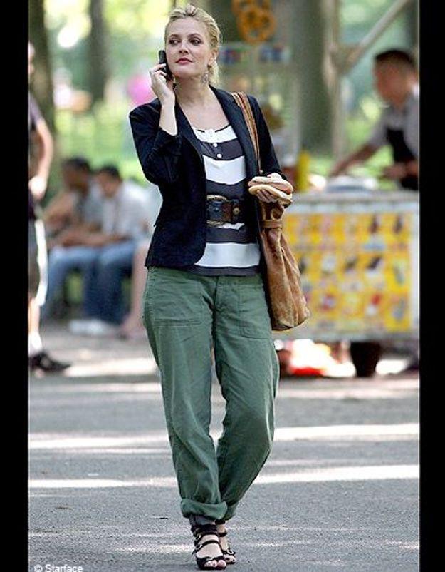dew barrymore pantalon vert