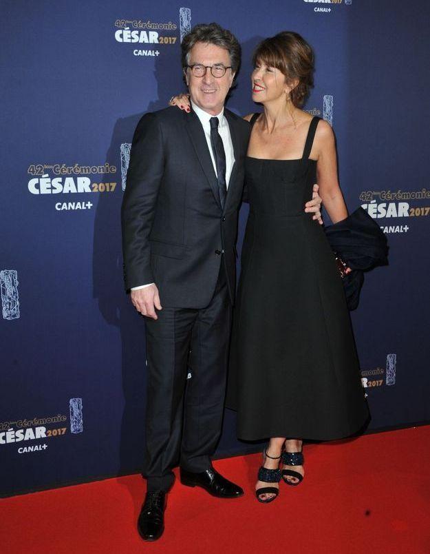 François Cluzet en Dior Homme et sa femme Narjiss